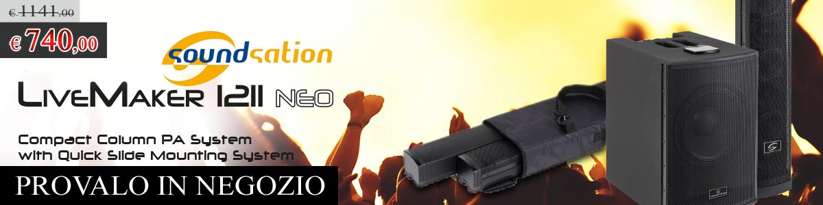 OFFERTA - Soundsation Livemaker 1211 Neo - PROVALO IN NEGOZIO