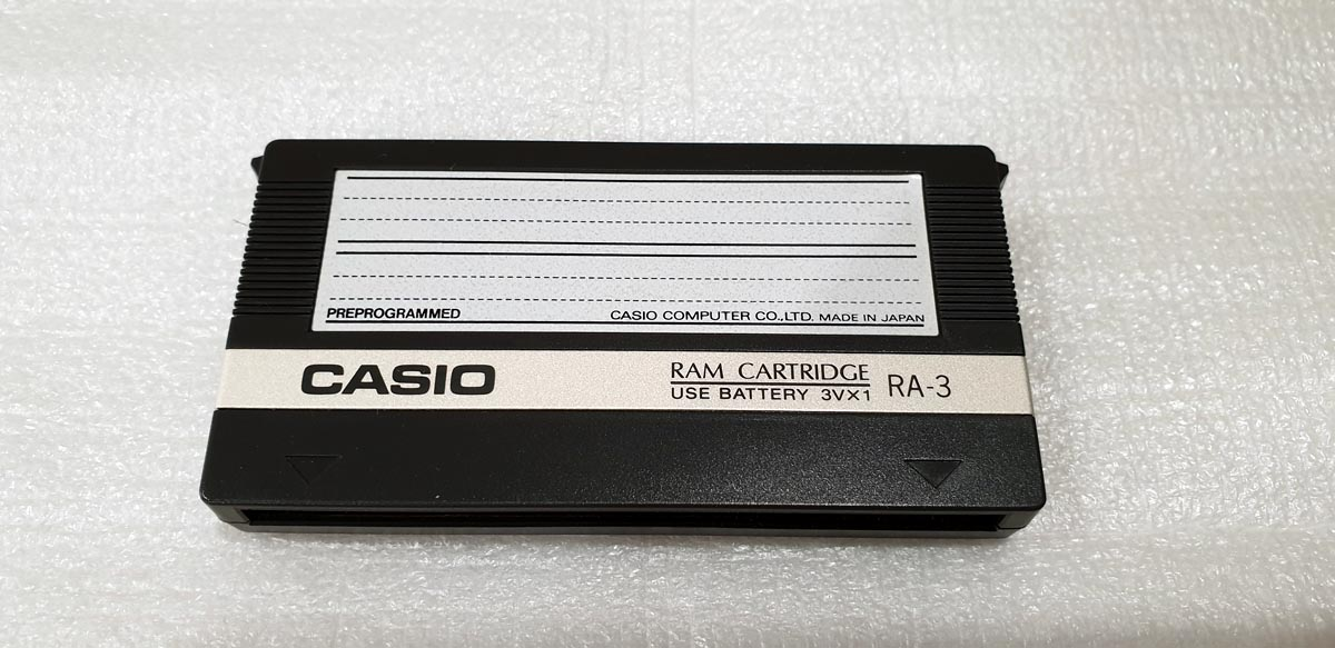 Vintage Casio RA-3 Ram Cartridge