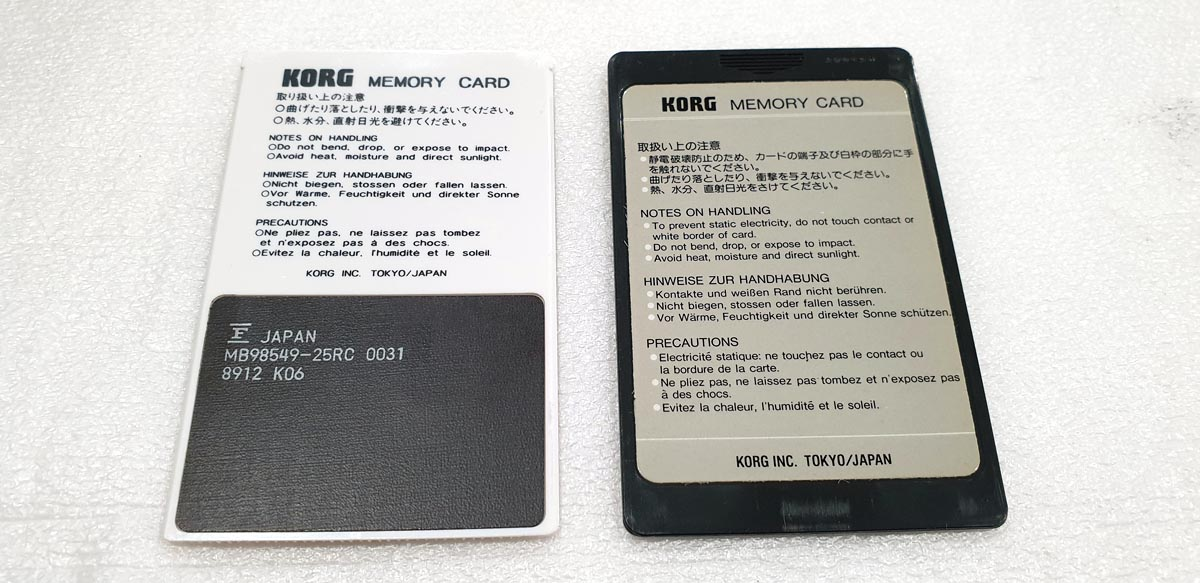 KORG M1 Memory Card - MSC03 / MPC03