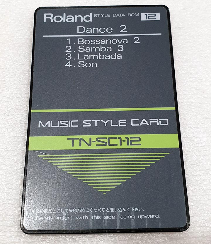 ROLAND MUSIC STYLE CARD TN-SC2-02 BEATLES