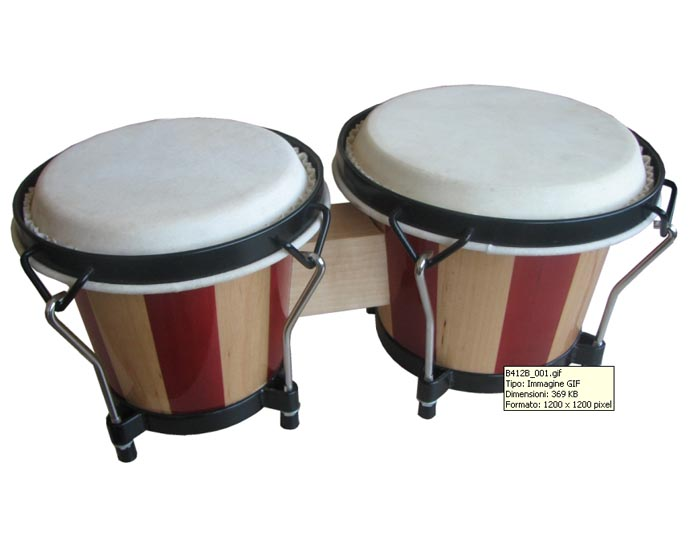 SOUNDSATION BONGOS SB-NW10-WS WOOD STRIPE