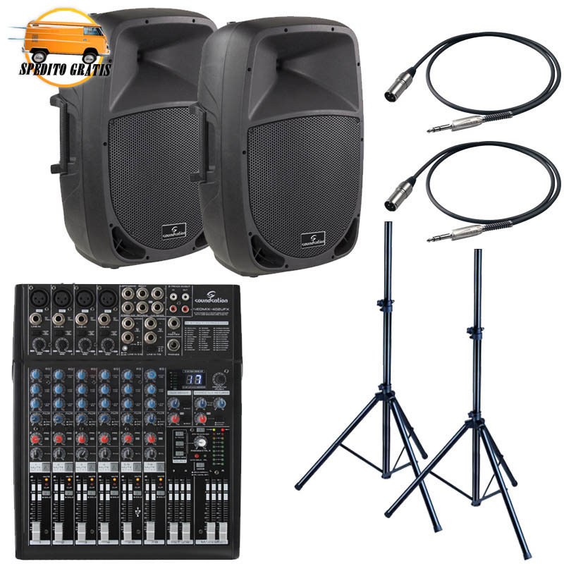 GO-SOUND '15 LIVE PACK LARGE - CON MIXER 6 CANALI