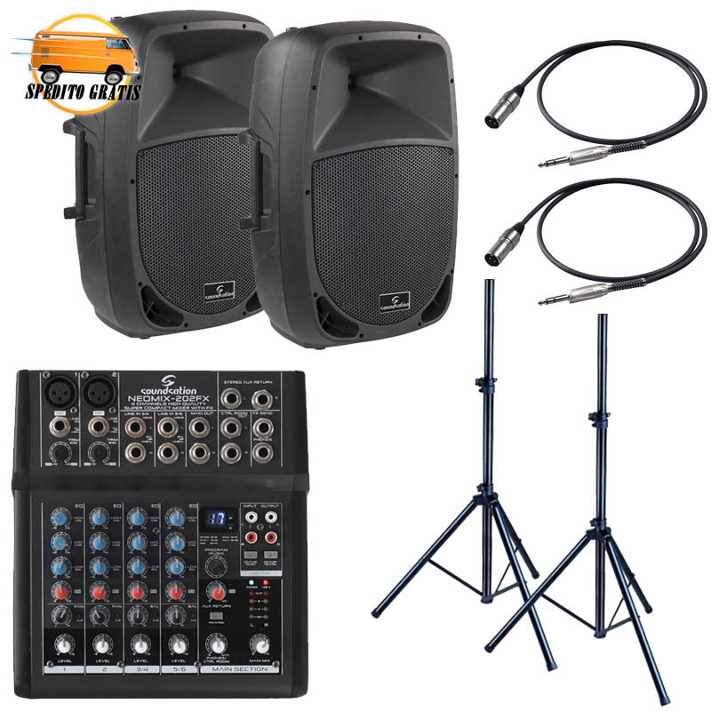 GO-SOUND '15 LIVE PACK MEDIUM - CON MIXER 4 CANALI
