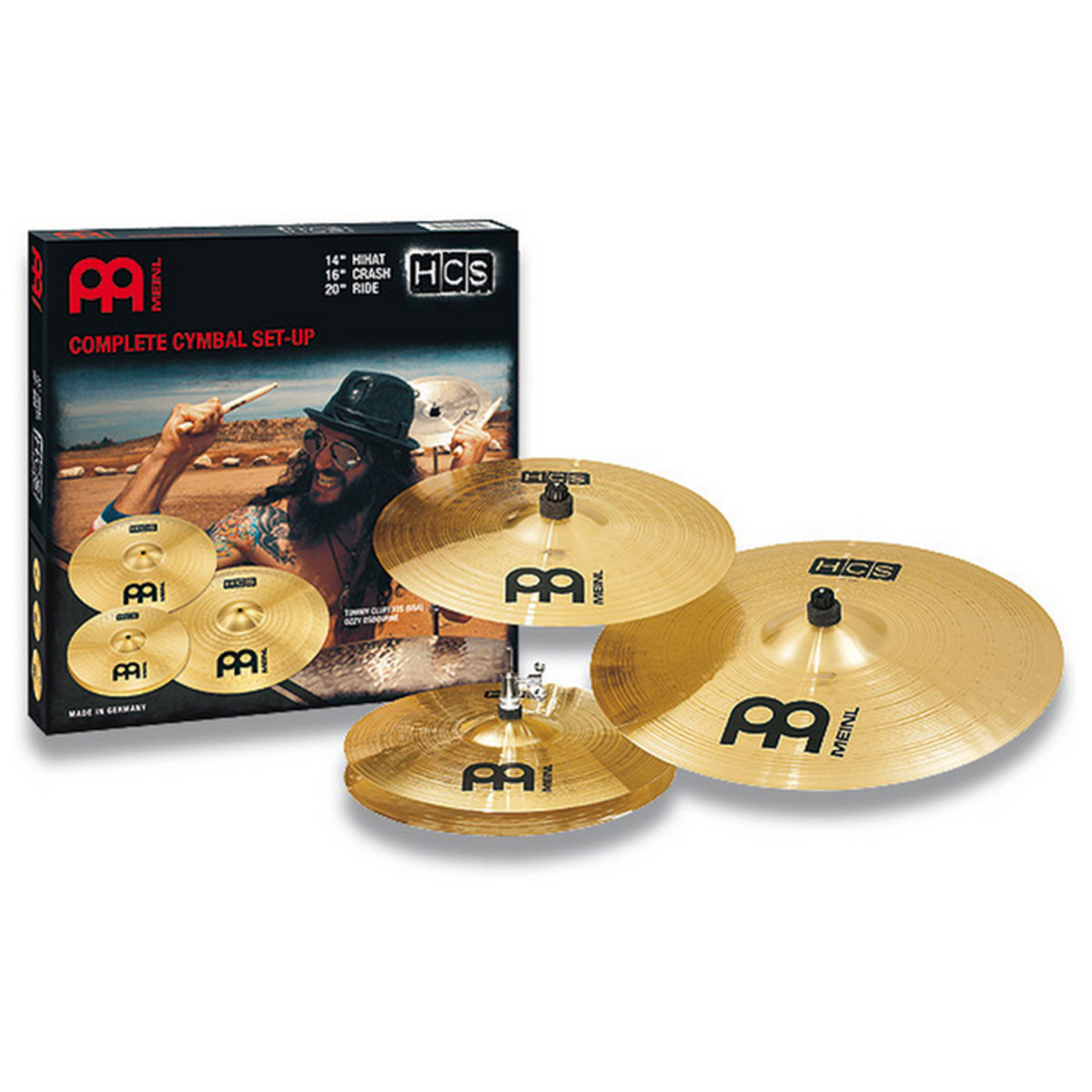 "MEINL HCS141620 Set Hi-hat 14"", Crash 16"", Ride 20"""