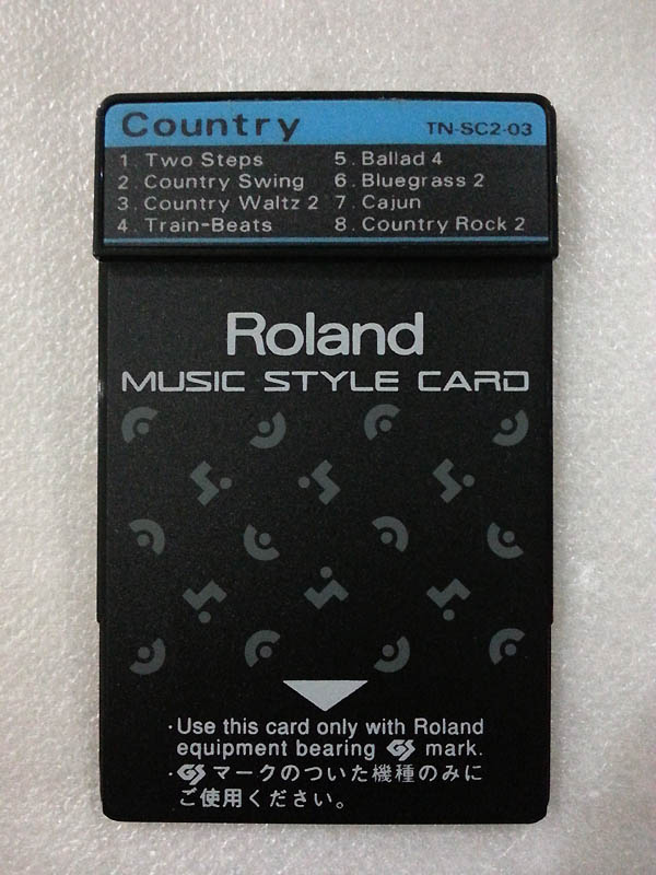 ROLAND MUSIC STYLE CARD TN-SC2-03 COUNTRY