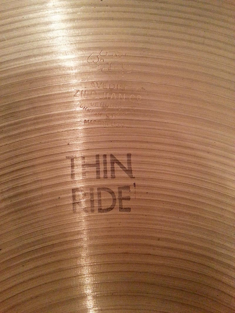 ZILDJIAN Thin Ride - FUORITUTTO
